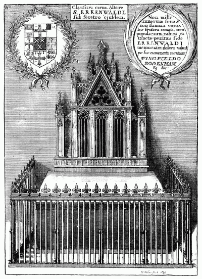 Erkenwald's shrine in old St Paul's (from Old St Paul's Cathedral by William Benham)