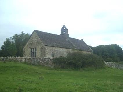 St Oswald's, Widford from the banks of the Windrush