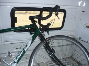 Bike meets truck: sad end to gloriously silly day